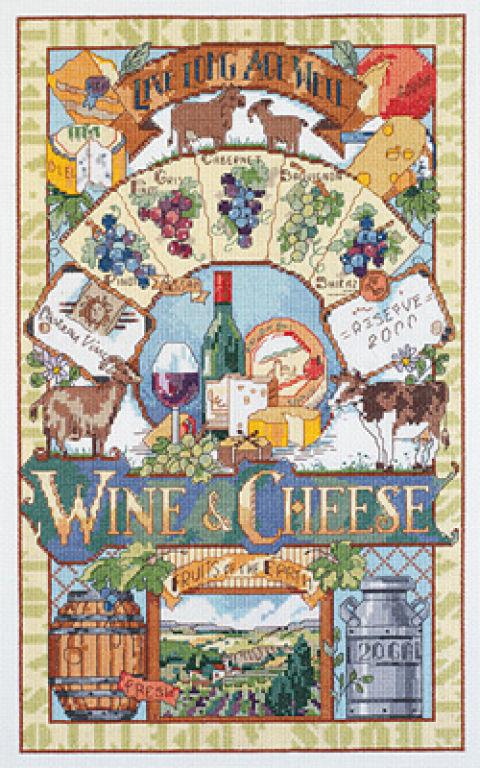Поделитесь схемой «Вино и сыр»