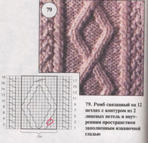 Узоры для вязания спицами Более 750 схем с описанием 37